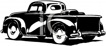 Royalty Free Clipart Image of a Pickup Truck