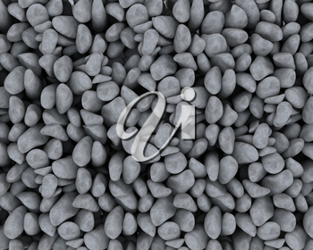 3d render of background texture of natural pebbles