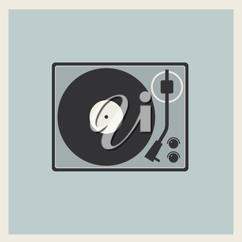 Royalty Free Clipart Image of a Record Player