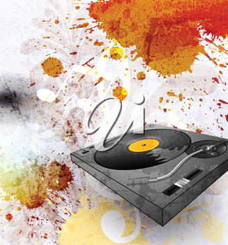 Royalty Free Clipart Image of an Abstract Turntable Background