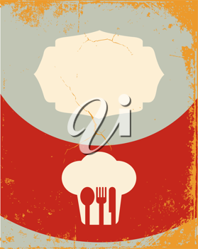 Restaurant menu design. With the silhouette cook chef