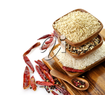Royalty Free Photo of an Assortment of Rice