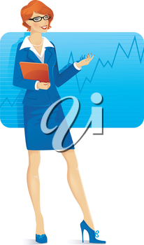 Vector illustration of Businesswoman