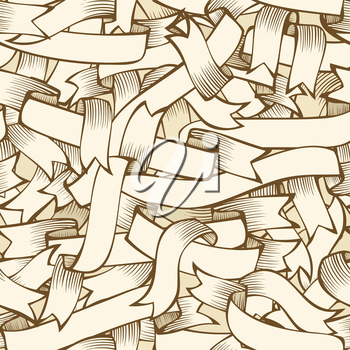 Vector sepia background for your design. Seamless pattern can be used for wallpapers, web page backgrounds or wrapping papers.