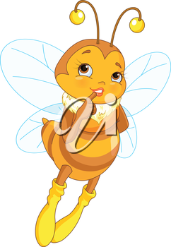Illustration of cute femininity bee