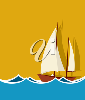 Sailing boat background with room for text