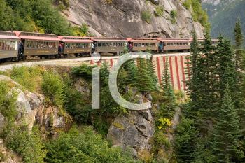 Royalty Free Photo of a Scenic Railroad in Skagway, Alaska on the White Pass and Yukon Route