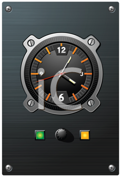 Royalty Free Clipart Image of a Clock Device