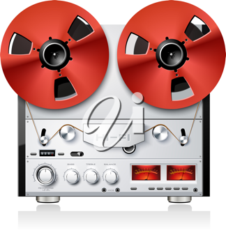 Royalty Free Clipart Image of a Vintage Stereo