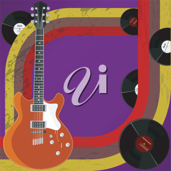 Royalty Free Clipart Image of an Abstract Background of Music Objects