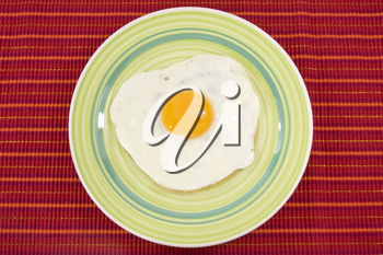 Royalty Free Photo of an Egg on a Plate