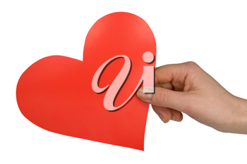 Royalty Free Photo of a Woman Holding a Heart