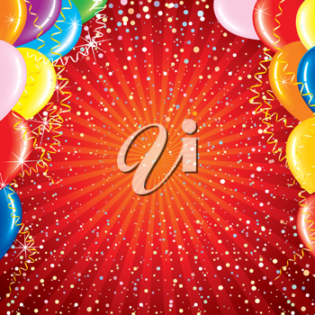 Royalty Free Clipart Image of a Celebration Background