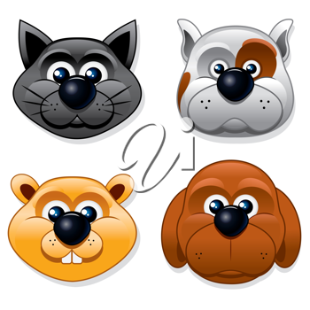 Royalty Free Clipart Image of Animal Icons