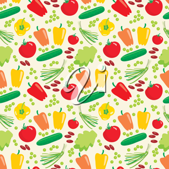 Royalty Free Clipart Image of a Vegetable Background