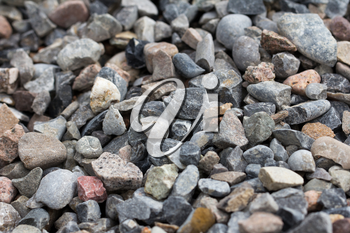 Background of rubble stones