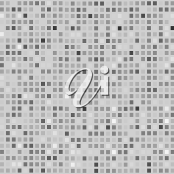 Abstract Brick Grey  Background. Grey Mosaic Texture