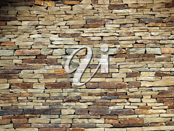Old masonry from grey stone closeup for background or textures