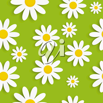 Flora Daisy Seamless Pattern Design Vector Illustartion EPS10